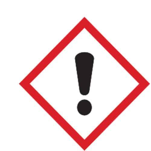 Esempio adesivo GHS pittogramma irritante nocivo
