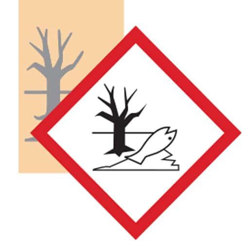 Esempio adesivo GHS pittogramma pericoloso ambiente