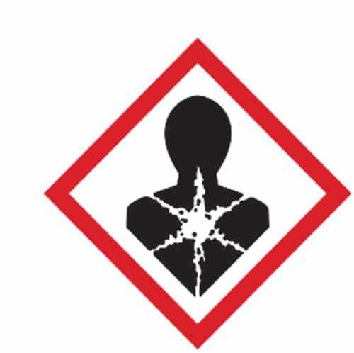 Esempio adesivo GHS pittogramma tossico lungo termine