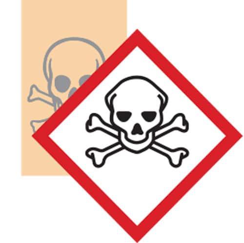 Esempio adesivo GHS pittogramma tossico