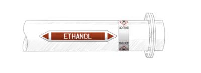 esempio etichetta adesiva con simboli GHS